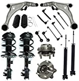 Detroit Axle - 18pc Front Struts + Rear Shocks, Lower Control Arms, Sway Bar End Links Wheel Hub & Bearing Kit Replacement for 2009-2014 Nissan Maxima