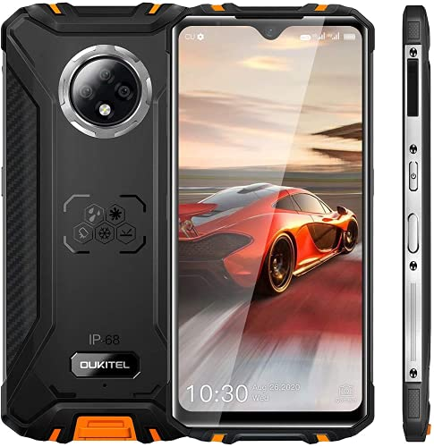 Móviles y Smartphones Libres OUKITEL WP8 Pro Android 10 Móvil Resistente 4GB RAM+64GB ROM,Batería 5000mAh Telefono 6.49 Pulgadas HD+ InCell Drop Screen Impermeable Triple cámara,NFC Google Pay Naranja