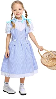Dorothy Costume for Girls, Kids' Wizard of Oz Role Play Dress up