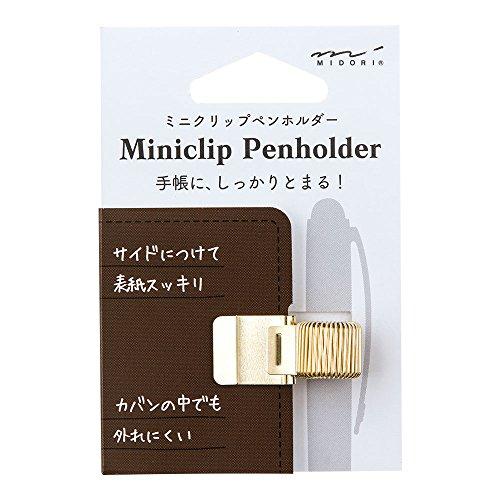 ミドリペンホルダーミニクリップペンホルダーゴールド82219006