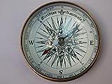 KHUMYAYAD bussola in ottone antico marittimo nautico barca bussola nave bussola fatta a mano completamente funzionale bussola 7,6 cm