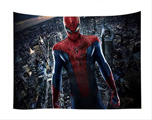 N/ A Spider-Man-wandteppiche Hängende Stoffhintergr&wandbedeckung Schlafzimmerrenovierung Bettdekorationsteppich Brauch 150 * 200cm C