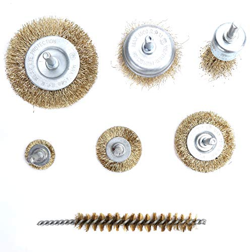 Steel Brush, 7pcs Different Styles Wire Brush, Steel Wire for Paint Metal Parts