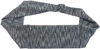 BANDI Large Pocket Belt Holds Phone for Running, Travel, Medical, Adjustable Fit, Comfortable (Strata Black/White)