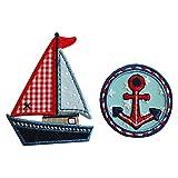 8X6Cm Yate03 Lindo velero con una combinación de...