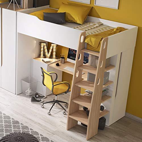MHF Bubu - 1 litera para escritorio (90 x 200 cm), diseño moderno
