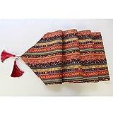 MagiDeal Vintage Tischläufer mit Quaste aus Baumwolle - Rot, 30cm * 180cm - 8