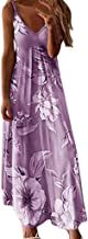 Sexy Dresses for Women,Women Sexy Off Shoulder Sleeveless Casual Floral Printing Dress Long Dress