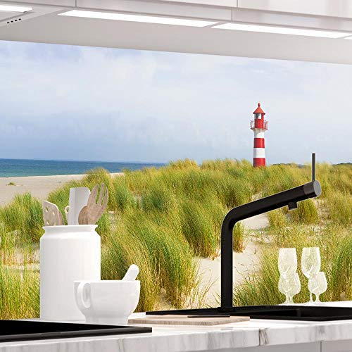 StickerProfis Küchenrückwand selbstklebend - NORDSEE - 1.5mm, Versteift, alle Untergründe, Hart PET Material, Premium 60 x 220cm