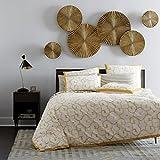 Decorlives Set of 6 pcs Bright Gold Color Sunburst Metal Wall Sculpture Decorative Wall Hanging Art 6 Pcs Mirror Finish Handmade Metal Wall Art Sculpture Wall Decor and Hanging
