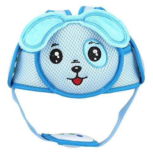 Baby Anti Kollisions Hut Baby Kleinkind Kopfhut Leichter Klett Schutzhelm Kopfschutz Schutzhelm für Baby Lernen zu Gehen(blauer Welpe)