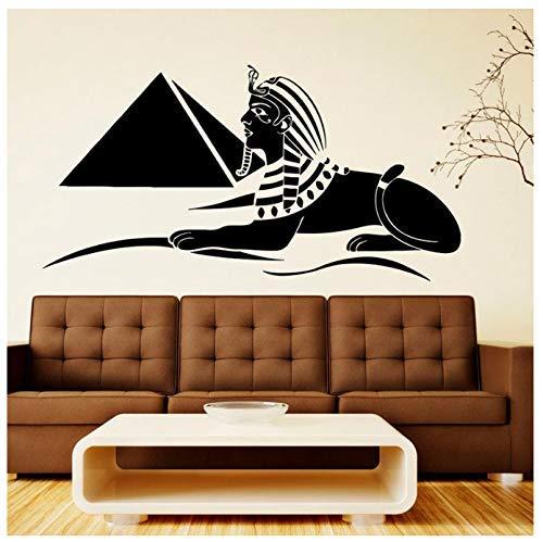 Ägyptisches Symbol Wandtattoo Pyramide Sphinx Wandbilder Kunst Tür Fenster Vinyl Aufkleber Schlafzimmer Künstler Studio Innendekor Wandbild 57X30Cm