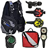 Divers Supply Scuba Package Special of The Month(Medium/Puck Pro Plus Black)