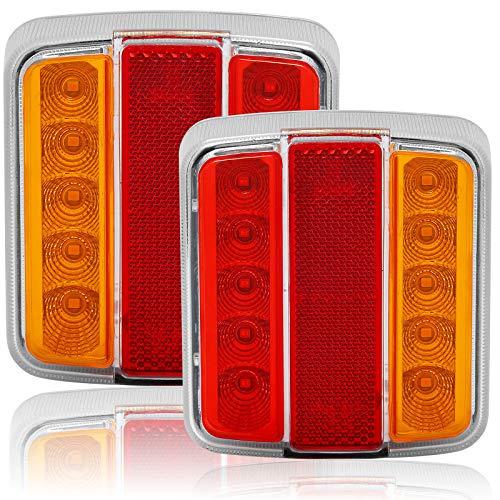 AGRISHOP LED Rückleuchten für Anhänger 12v ,LED Rücklicht12V ,LED Anhängerbeleuchtung, Heckleuchten LED , Anhänger Rücklichter LED Mit Reflektor Wasserdicht für RV Wohnwagen Traktor Van LKW PKW E-Mark