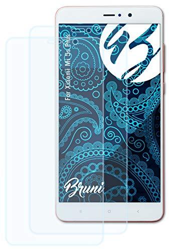 Bruni Película Protectora Compatible con Xiaomi Mi 5s Plus Protector Película, Claro Lámina Protectora (2X)