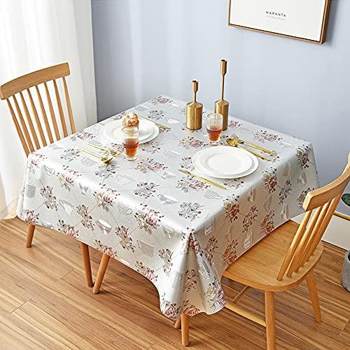 HautStore Antimacchia Tovaglia Quadrata, 140x140cm Impermeabile e Antiscottatura Rettangolare Plastificata Tovaglia Può Essere Utilizzato per Tavolo da Pranzo, Cucina, Pranzo All'aperto