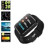 Cardiofrequenzimetro fitness tracker e pressione, impermeabile Smartwatch da running sport per contatore...