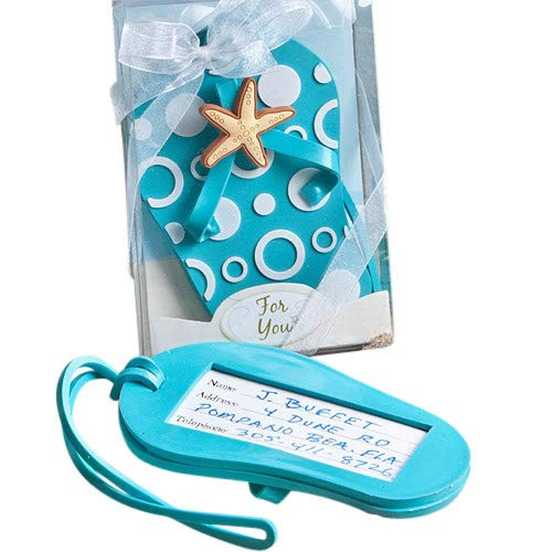 FASHIONCRAFT 4763 Flip Flop Luggage Tags, Luggage Tag, Gift for Travelers - Blue