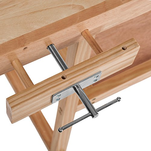 TecTake Workbench 117 x 47,5 x 83 cm Wood Timber Workshop Wooden Work Working Bench Table by TecTake - 6