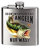 MCK Austria Design Flachmann Metall - Bedruckt anstelle Gravur - für den Angler Fischer - Es gibt...