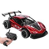 SUNGOOYUE Coche Teledirigido, 1/16 2.4G RC Alloy High Speed Drifting Wireless Toys Racing Car Teledirigido 8004(Rojo)