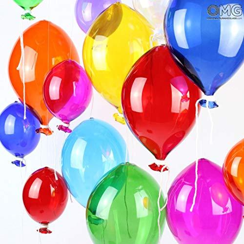 Original Muranoglas OMG Glasballon Murano - zum Aufhängen als Deko klein