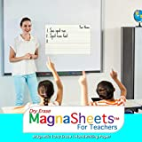 MagnaSheets (TM) for Teachers | Giant Sized Magnetic Handwriting Paper, Durable Dry Erase - Simply Write & Wipe | 28 x 22 Inches | Virtual Learning, Distance Learning, Video Learning