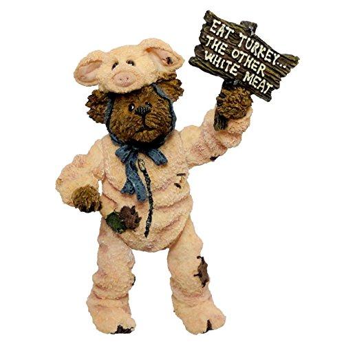 Shoebox Bear Pigadilly Honeyglaze. Don't Pig Out!, Boyd, 3231 -  Boyds Bears