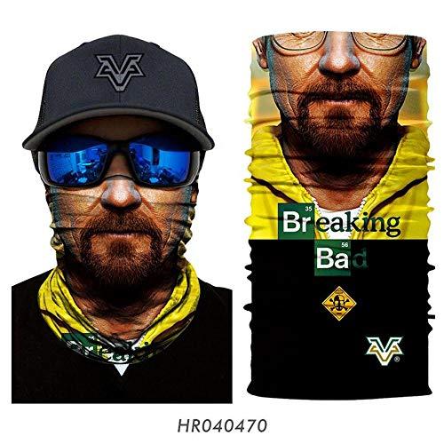 N/X 3D Magic Head Scarf Legging Sin Costuras con Cuello para El Cuello Tocado Marvel Motorcycle Hunting Ski Head Scarf-Hr040470_25X50Cm