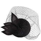 FHKGCD Sombrero De Tocado De Imitación Sinamay con Velo par