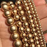 Perlas de astillado de hematita suelta para joyería Accesorios de joyería de oro color natural de color natural-4mm (aproximadamente 91PCS)