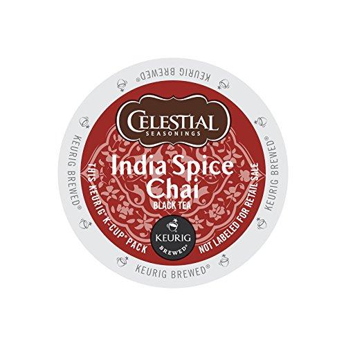 Celestial Seasonings Original India Spice Chai Tea Single-Serve K-Cups, 0.35 Oz, Box of 24