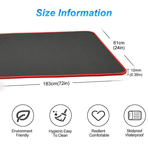 Yoga mat LKU Yogamat super dik 1830 * 610mm antislip kussen voor heren en dames fitness, China