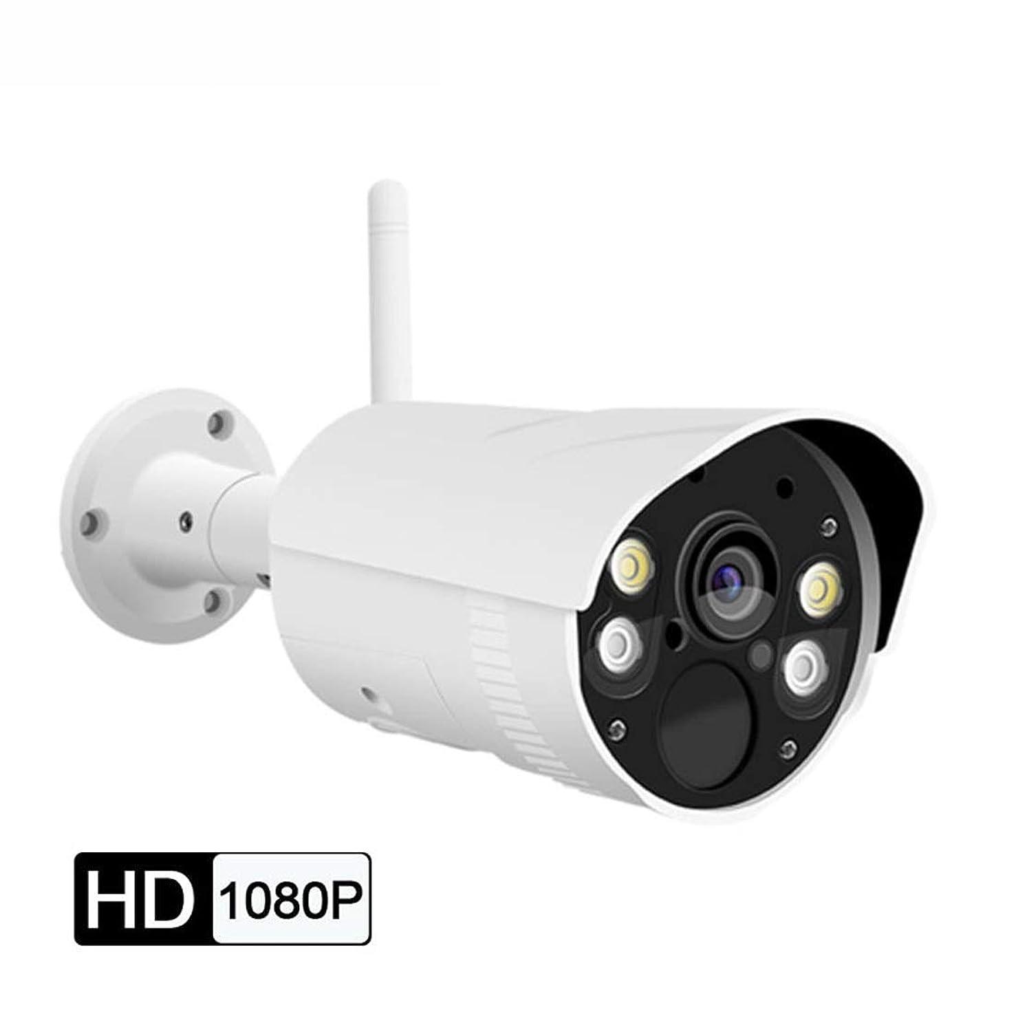 税金石灰岩たまにYIJUPIN 屋外ワイヤレスカメラ1080 PネットワークWifiモニターHDセット監視カメラ (色 : ホワイト)