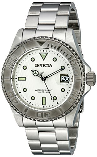 Invicta Men's 12838 Pro Diver Automatic Silver Dial Watch - http://coolthings.us