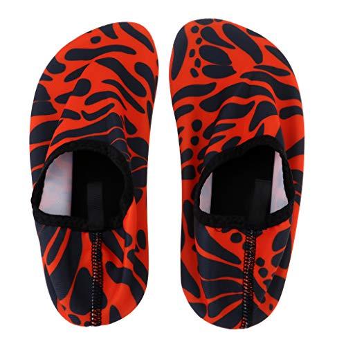 IPOTCH Unisex Zapatos de Agua para Buceo Snorkel Surf - Naranja XS 32-33