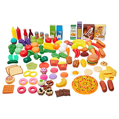 Amazon Basics 120-piece Pretend Toy Play Food Set