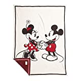 Barefoot Dreams CozyChic Classic Disney Mickey & Minnie Mouse Baby Blanket Cream Multi One Size