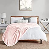"""Walensee Fleece Blanket Plush Throw Fuzzy Lightweight (XL-Twin Size 66""""x90"""" Pink) Super Soft Microfiber Flannel Blankets for Couch, Bed, Sofa Ultra Luxurious Warm and Cozy for All Seasons"""