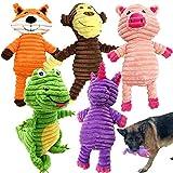 Jalousie 5 Pack Dog Toys Dog Plush Toys Assortment Value Bundle Dog Squeaky Toys Assortment Puppy Pet Mutt Dog Toy Dog Squeak Toy for Medium Large Dogs