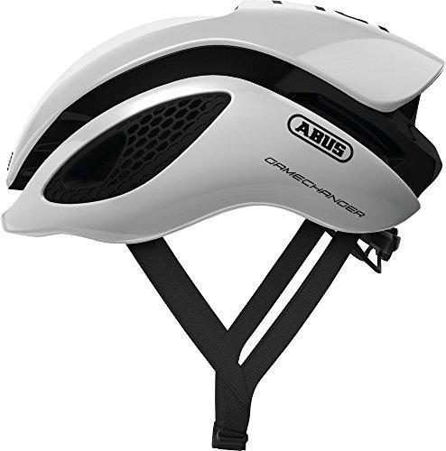 ABUS GameChanger Rennradhelm - Aerodynamischer Fahrradhelm mit optimalen Ventilationseigenschaften für Damen und Herren - 77601 - Weiß, Größe M