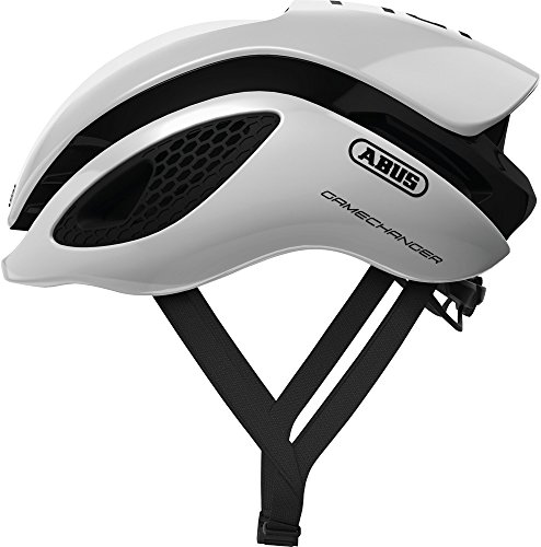 ABUS GameChanger Rennradhelm - Aerodynamischer Fahrradhelm mit optimalen Ventilationseigenschaften für Damen und Herren - 77602 - Weiß, Größe L