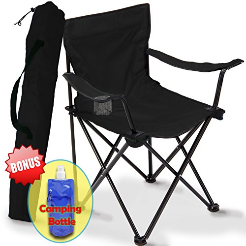 Price comparison product image Folding Camping Chair,  Portable Carry Bag for Storage and Travel,  Best Durable Outdoor Quad Beach Chairs,  Comfortable Arms,  Space Saving,  Lightweight Great for Transport