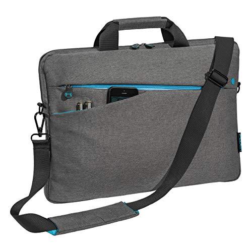 Pedea Laptoptasche Fashion Notebook-Tasche bis 15,6 Zoll (39,6 cm) Umhängetasche mit Schultergurt, grau