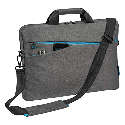 Pedea Laptoptasche Fashion Notebook-Tasche bis 17,3 Zoll (43,9 cm) Umhängetasche mit Schultergurt, grau