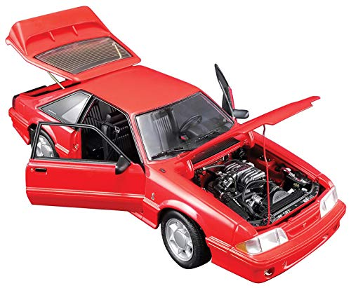 1993 Ford Mustang Cobra Red with Black Interior Limited Edition to 798 Pieces Worldwide 1/18 Diecast Model Car by GMP 18922