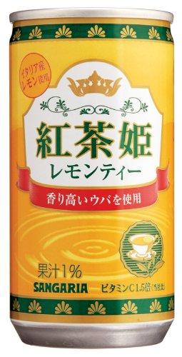 サンガリア 紅茶姫 レモンティー 190ml×30