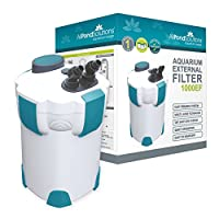 """Multi Layer Filtration System (Filter media included - Bio balls, Ceramic Rings and Active Carbon).) Quiet running / Low noise Self Priming External Filter with Easy Clean Tap Shut Off System Hose size: 20mm / 0.8"""" Outside, 15mm / 0.6"""" Inside Diamete..."""