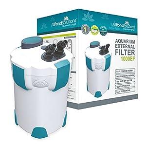 allpondsolutions 1000EF Aquarium External Fish Tank Filter 1000L/H – Free Filter Media
