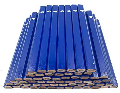 FEENIX 38585 Blue Carpenter Pencils MADE IN THE USA - Bulk Pack Box of 60 Carpenter Pencils